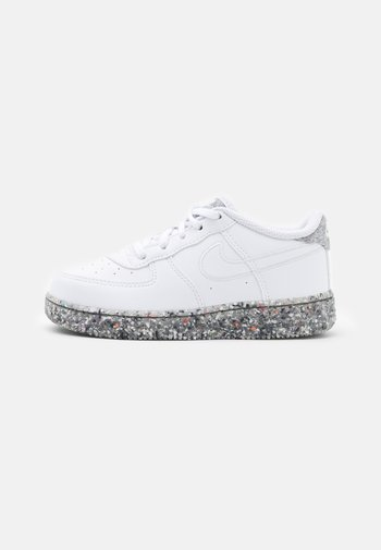FORCE 1 - Sneakers - white/metallic silver