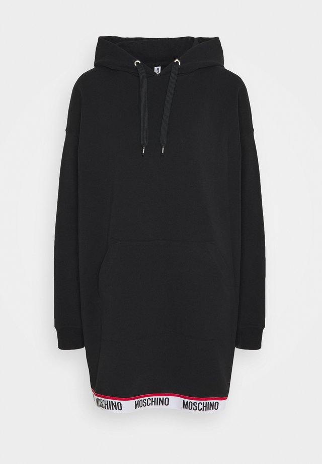 MAXI HOODIE - Noční košile - black