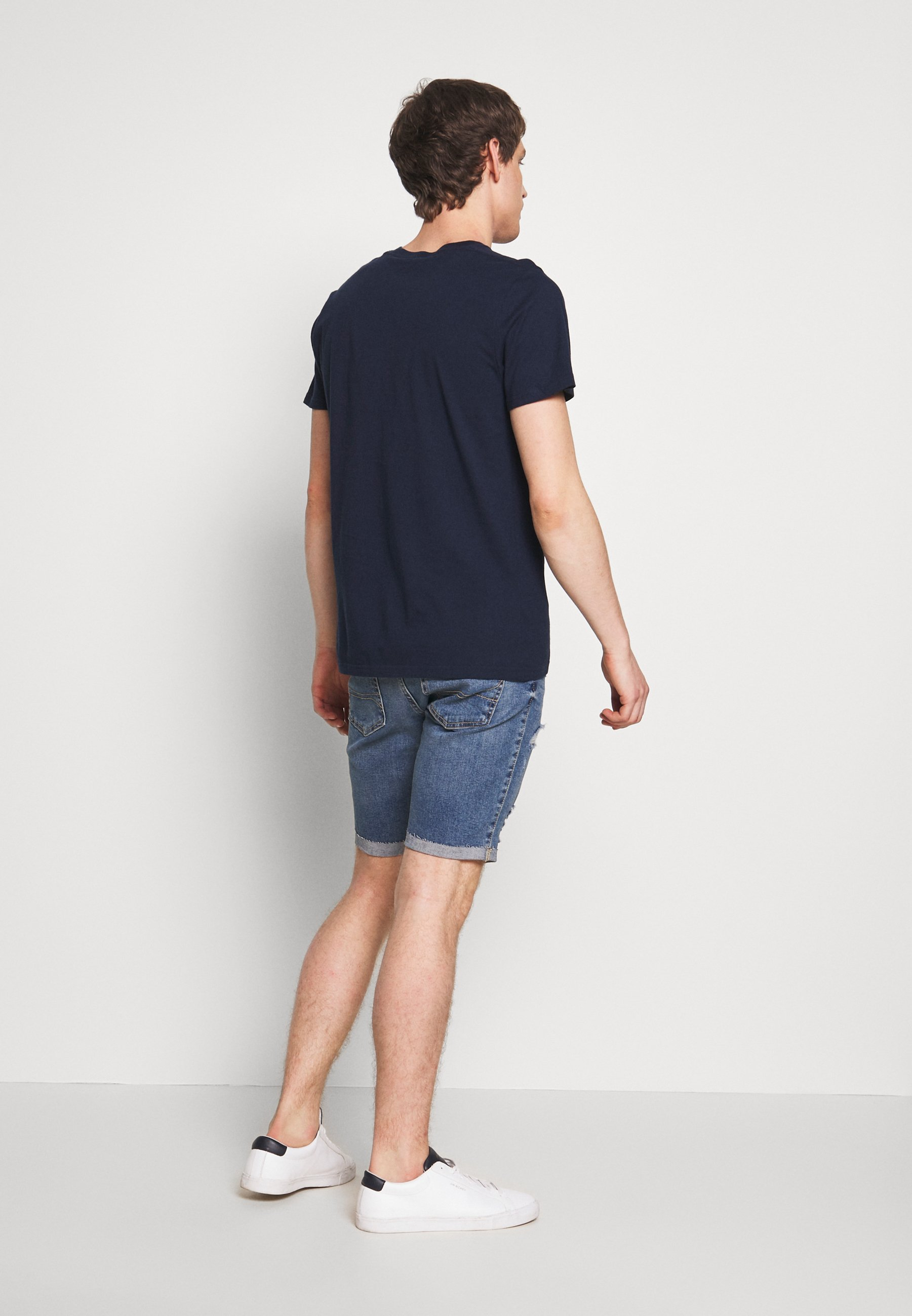Hollister Co. PRINT LOGO - Print T-shirt - navy fd3k1