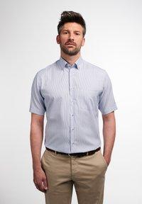Eterna - MODERN FIT - Shirt - blau/weiß - 0