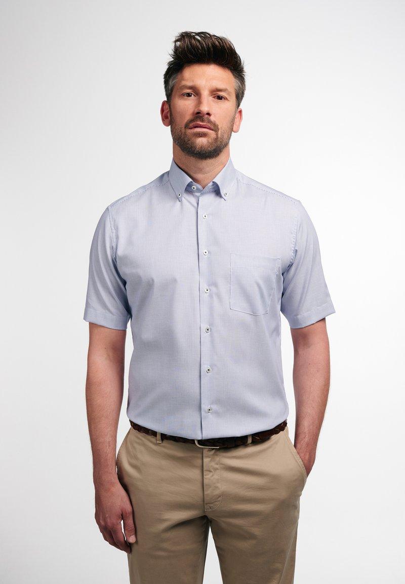 Eterna - MODERN FIT - Shirt - blau/weiß