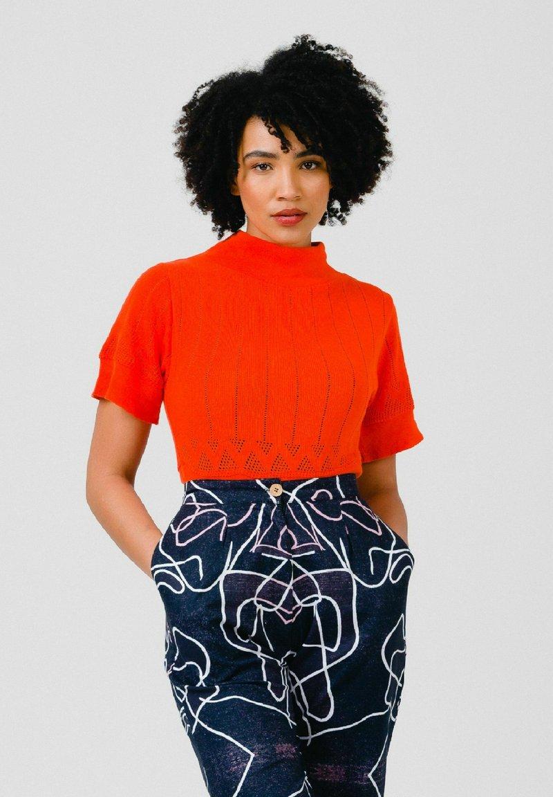 Solai - Print T-shirt - orange