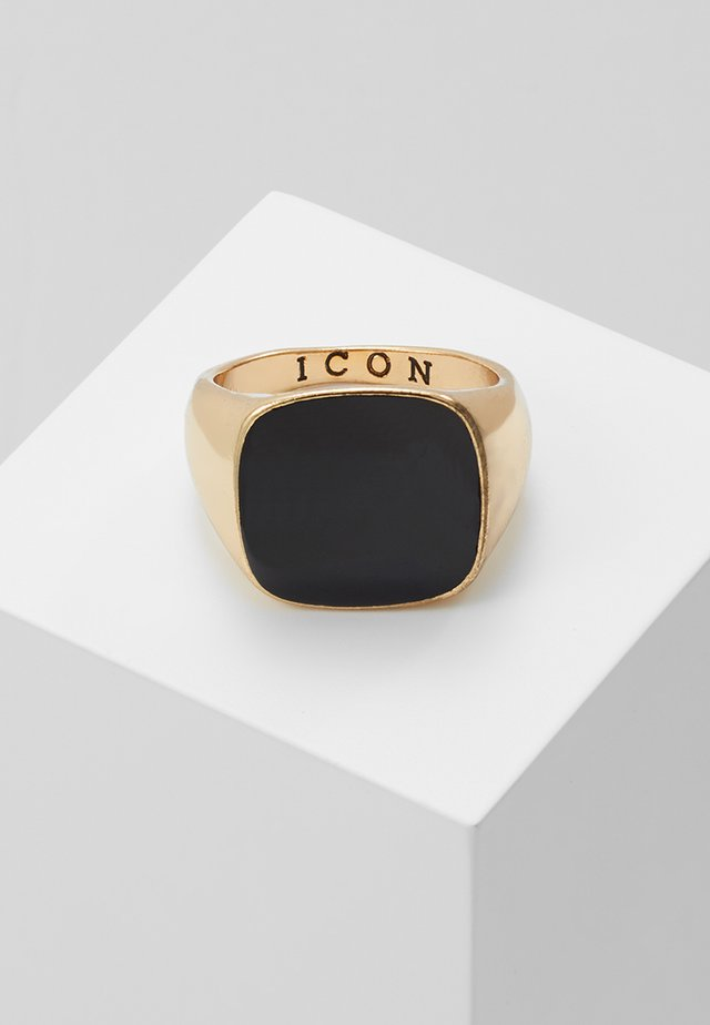 SQUARED SIGNET - Bague - gold-coloured