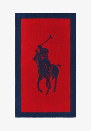 Beach towel - red navy