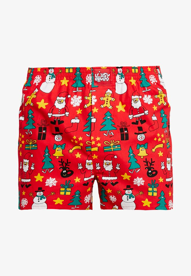 CHRISTMAS NIGHT - Boxer shorts - red