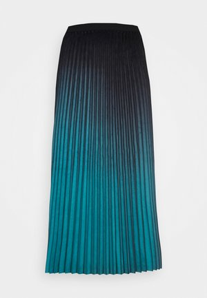 SKIRT PLISSE - Długa spódnica - teal blue