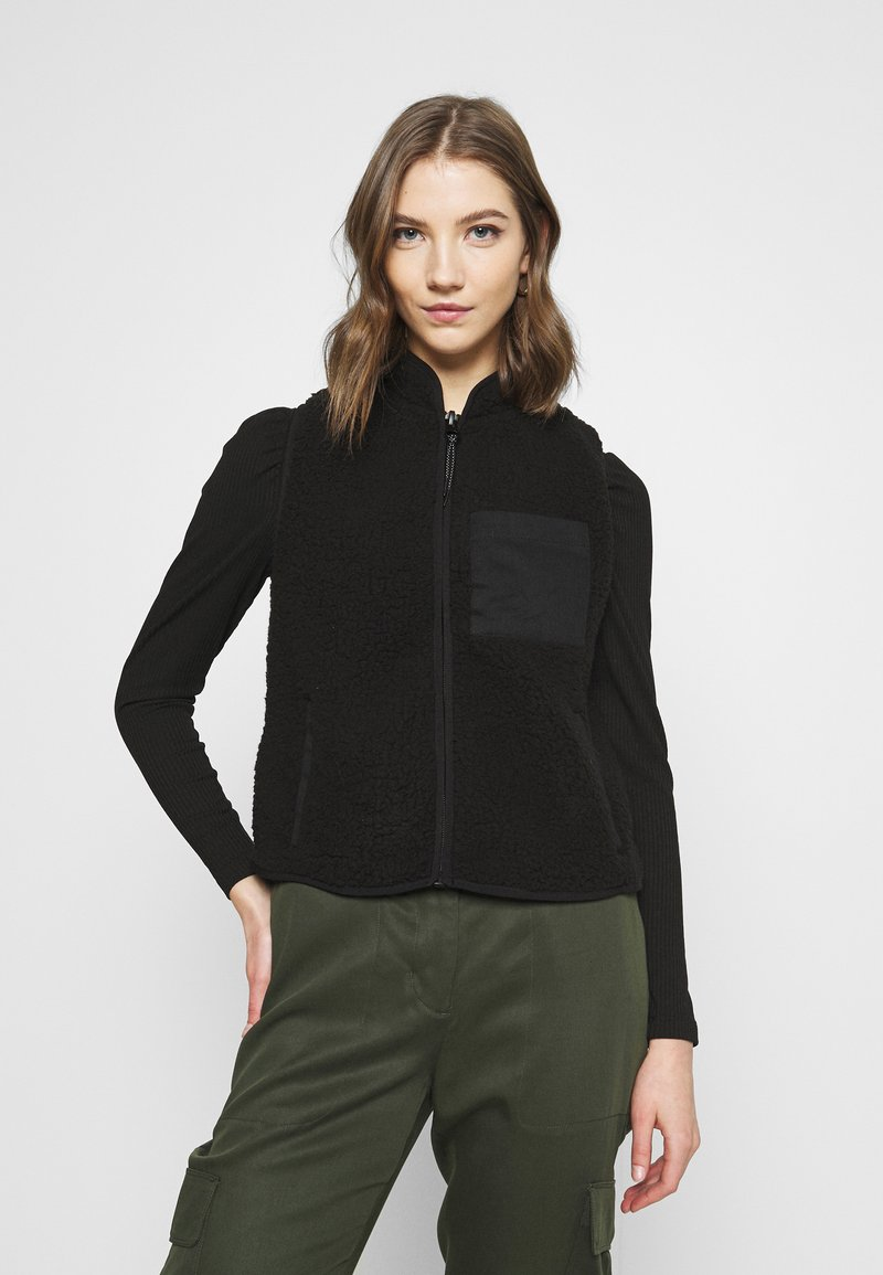 ONLY - ONLDORINA  VEST - Waistcoat - black