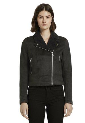 Faux leather jacket - deep black
