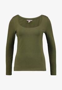 Anna Field - BASIC ROUND NECK LONG SLEEVES - Long sleeved top -  khaki - 3