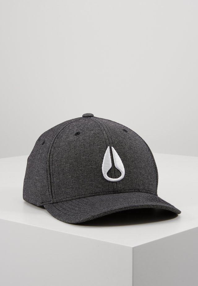 DEEP DOWN ATHLETIC - Gorra - gunmetal/white