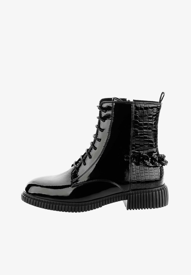 PAGNACCA PAGNACCA - Cowboy/biker ankle boot - czarny