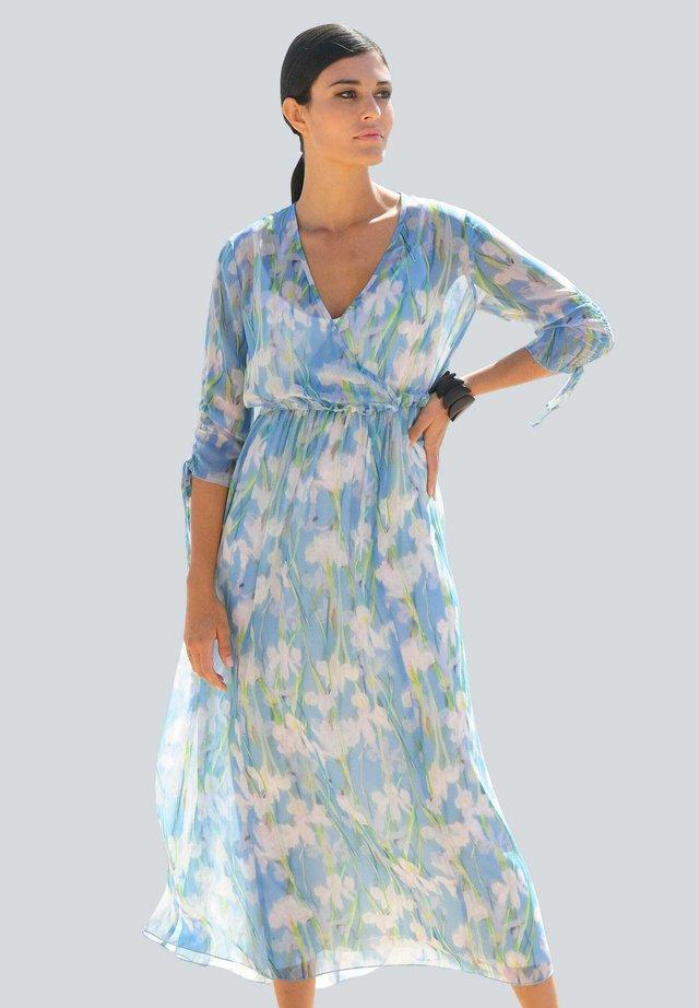 Maxi dress - blau/off-white