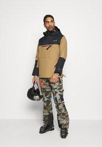 Columbia - PARK RUN ANORAK - Snowboard jacket - delta/black/plum - 1