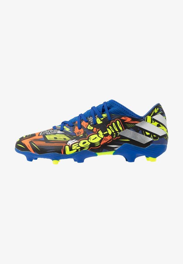 NEMEZIZ MESSI 19.3 FG - Chaussures de foot à crampons - team royal blue/silver metallic/solar yellow