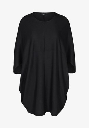 EINFARBIGES MIT STRUKTUR - Day dress - black