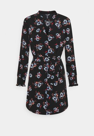 PCLUNILLA SHIRT DRESS - Skjortekjole - black