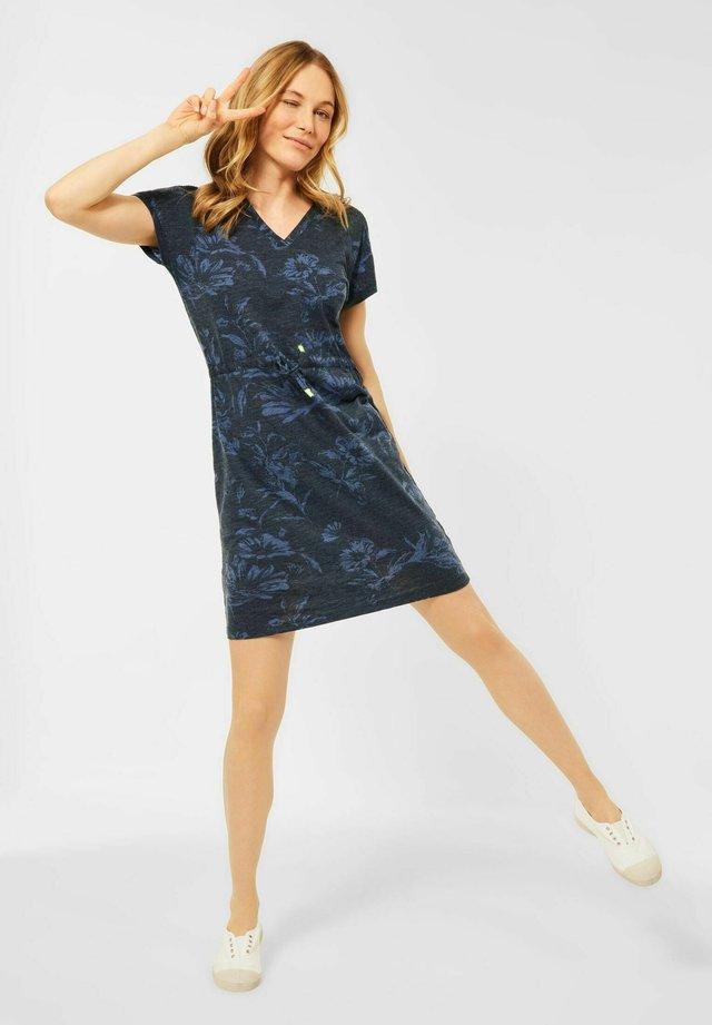 MIT BLUMEN PRINT - Korte jurk - blau
