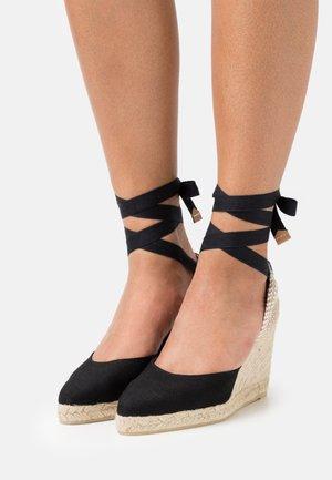 JOYCE - Sandalen met plateauzool - black