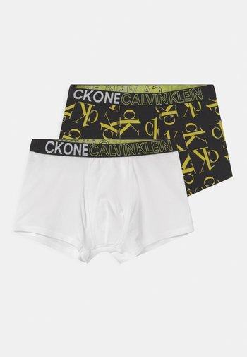 TRUNKS 2 PACK - Underkläder - white/lime