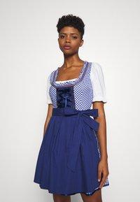 ONLY - ONLLOLA LACE UP DIRNDL DRESS SET - Dirndl - cloud dancer/blue - 0