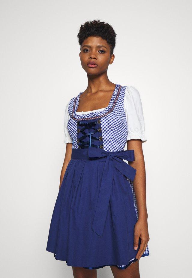 ONLLOLA LACE UP DIRNDL DRESS SET - Oktoberfestklær - cloud dancer/blue