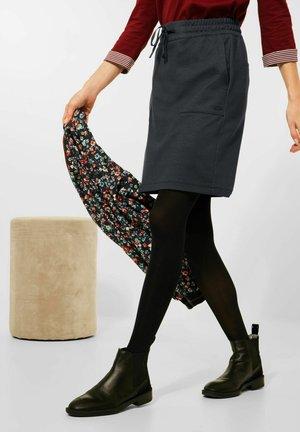 SALT AND PEPPER LOOK - Pencil skirt - blau
