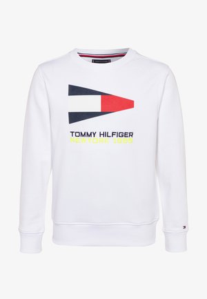 SAILING FLAG GRAPHIC - Sweatshirts - white