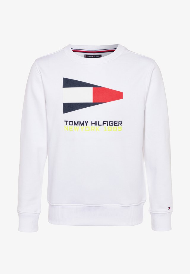 SAILING FLAG GRAPHIC - Sweatshirt - white