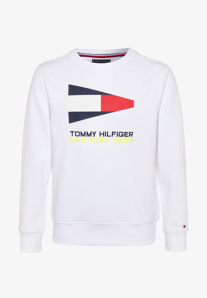 Tommy Hilfiger - SAILING FLAG GRAPHIC - Mikina - white