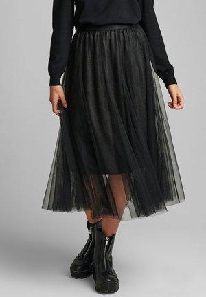Pleated skirt - caviar