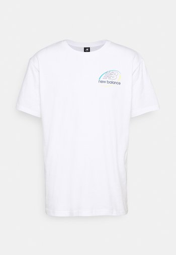 ATHLETICS CIRCULAR STACK TEE - Print T-shirt - white
