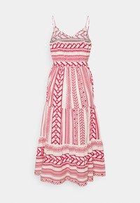 Vero Moda Petite - VMDICTHE SINGLET ANCLE DRESS VIP  - Maxi šaty - birch/dicthe/goji berry - 1