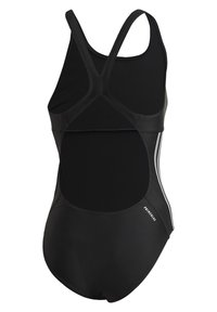 adidas Performance - GLAM-ON SHINY 3-STRIPES SWIMSUIT - Swimsuit - black - 9