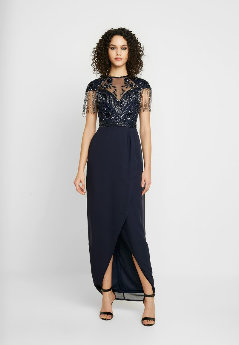 Lace & Beads - SAVANNA WRAP MAXI - Occasion wear - navy