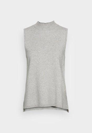 SANDRINE ELLEVEN NECK VEST - Jumper - mottled light grey