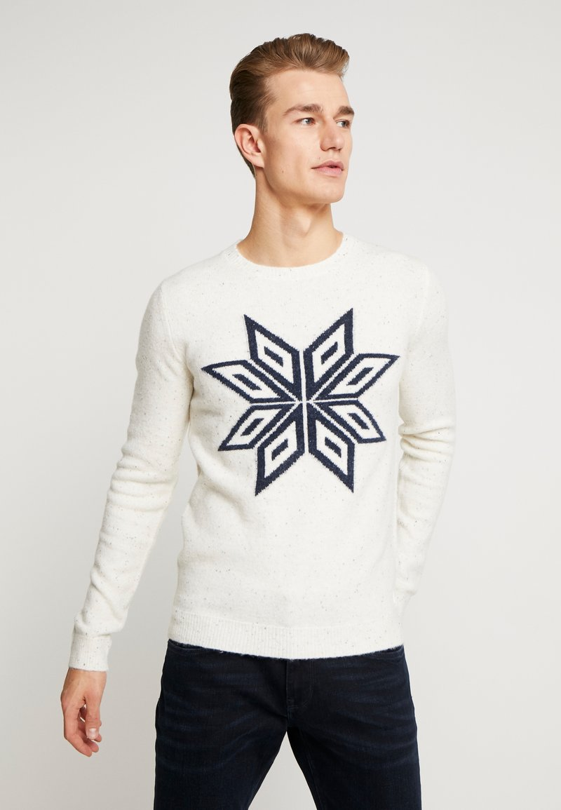 TOM TAILOR - COSY NEP SWEATER - Jumper - offwhite