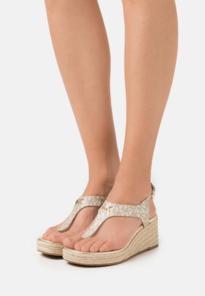 LANEY THONG - T-bar sandals - pale gold