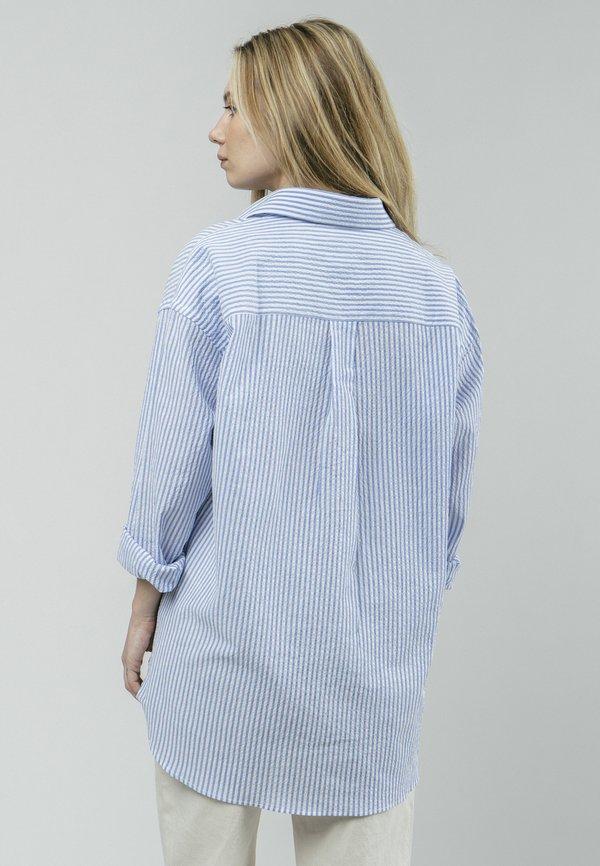 Brava Fabrics SAKURAYA TEA - Koszula - blue/niebieski XNZH