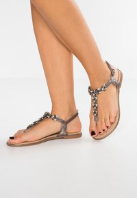 Anna Field - T-bar sandals - gunmetall - 0