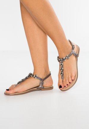 Sandály s odděleným palcem - gunmetall