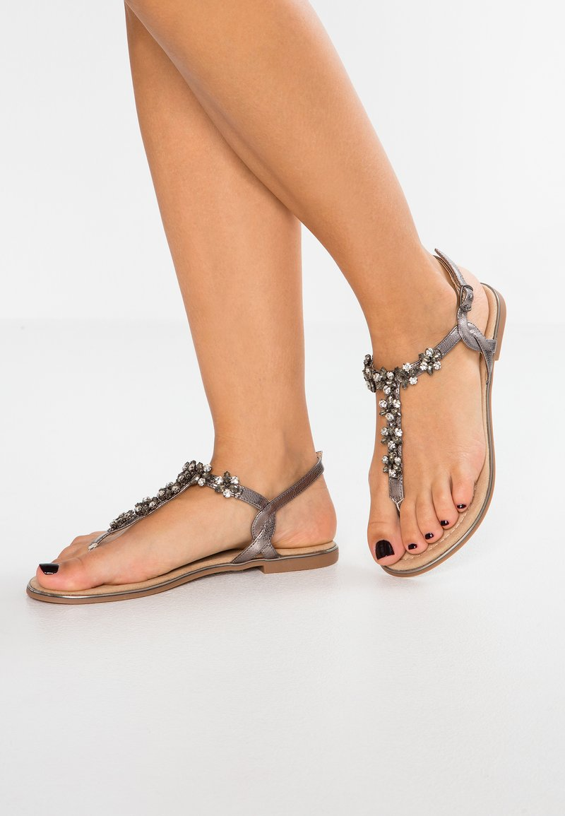 Anna Field - T-bar sandals - gunmetall