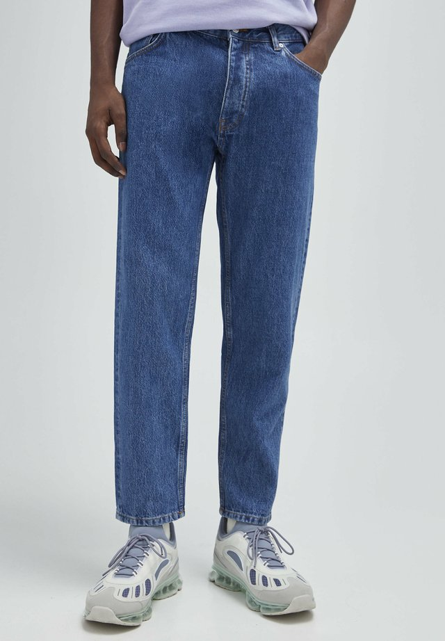 Jeans a sigaretta - mottled blue
