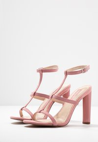 Topshop Wide Fit - WIDE FIT RIVER STRAPPY BLOCK - High heeled sandals - nude - 4