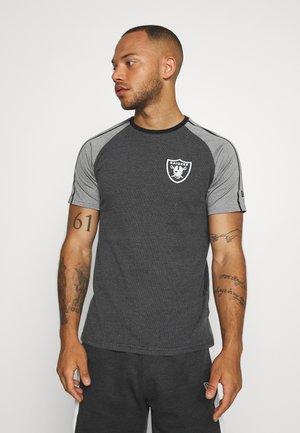NFL STRIPE RAGLAN TEE OAKLAND RAIDERS - Club wear - black