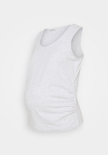MATERNITY EVERYDAY GATHERED SIDE TANK - Top - silver marle