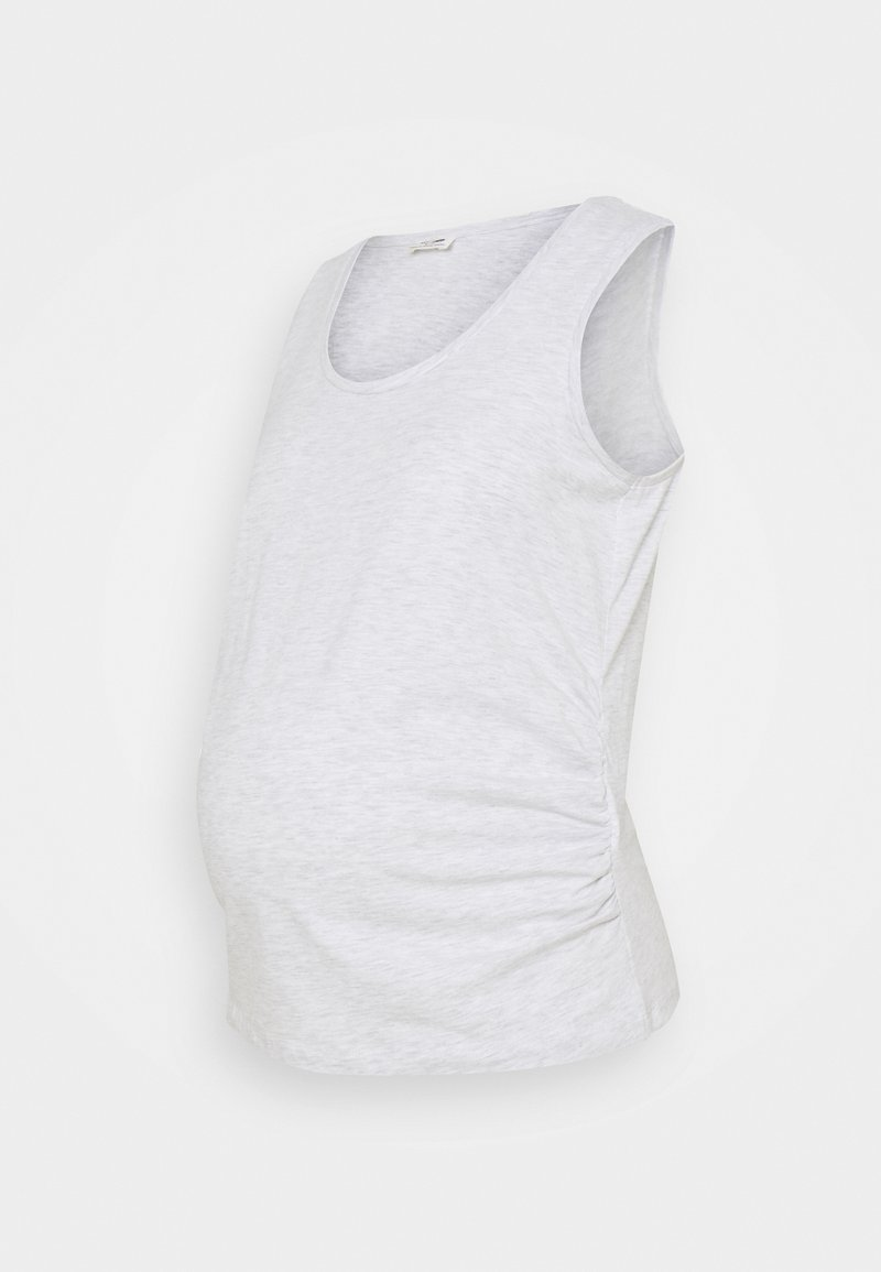 Cotton On - MATERNITY EVERYDAY GATHERED SIDE TANK - Top - silver marle