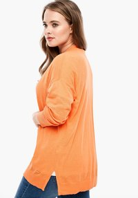 Triangle - MET EEN OPEN VOORPAND - Cardigan - orange - 2