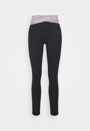 HIGH WAIST BANDED LEGGING - Leggings - metallic grey
