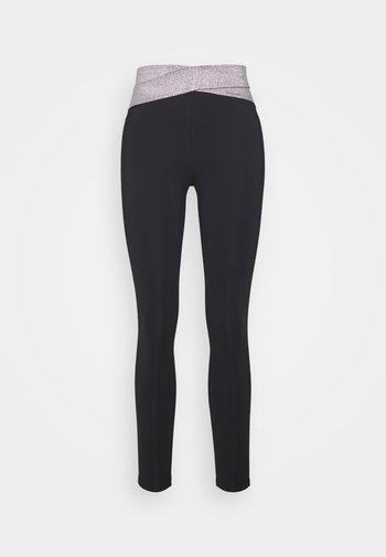 Leggings - metallic grey