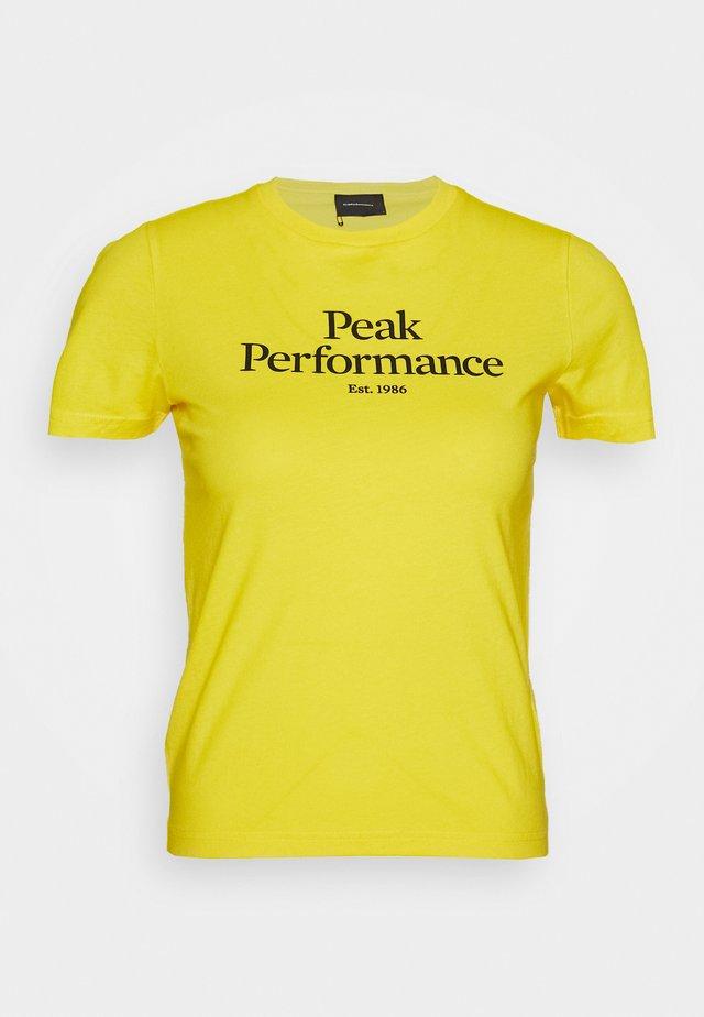 T-shirt med print - stowaway yellow